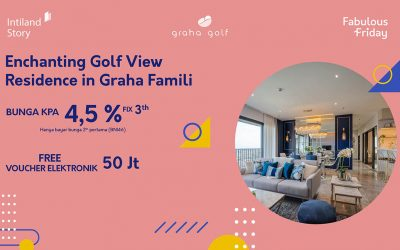 Enchanting Golf View Residence in Graha Famili Surabaya